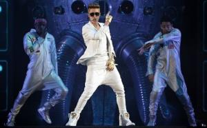 This March 28, 2013 file photo shows Justin Bieber performing during the I Believe Tour  in Munich, Germany.