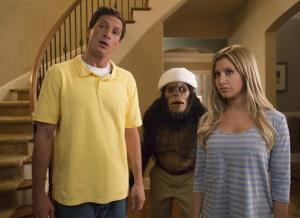 This film publicity image released by Dimension Films/The Weinstein Co. shows Simon Rex, left, and Ashley Tisdale in a scene from Scary Movie 5.