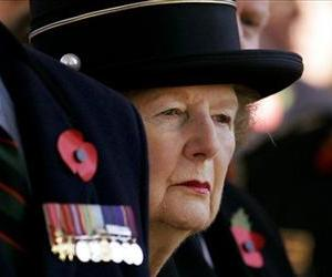 Former British prime minister Margaret Thatcher now Baroness Margaret Thatcher at a wreath laying ceremony  in London, Nov. 9, 2007.