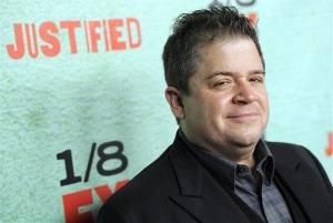 Patton Oswalt, a cast member in the FX series Justified, poses at the show's fourth season premiere screening at Paramount Theatre on Jan. 5, 2013, in Los Angeles.