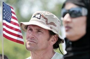 Carlos Arredondo, whose son was killed in Iraq, is shown at a Memorial Day event sponsored in part by the groups Veterans for Peace and Military Families Speak Out, May 31, 2010, in Boston.