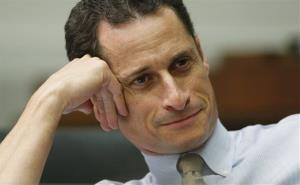 Then House Judiciary Committee member Rep. Anthony Weiner, D-N.Y., listens to testimony on Capitol Hill in Washington.