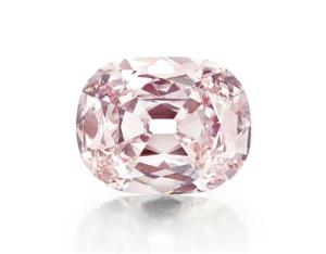 This undated photo provided by Christie's shows a rare pink diamond, nicknamed the Princie Diamond, which has sold for $39.3 million at auction.