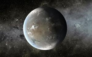An artist's rendering Kepler 62f.