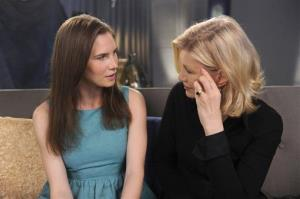 This photo released by ABC shows Amanda Knox speaking during an interview with ABC News' Diane Sawyer in New York. It airs April 30.