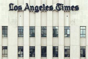 The Los Angeles Times building is seen in downtown Los Angeles.