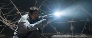 This film publicity image released by Universal Pictures shows Tom Cruise in a scene from Oblivion.