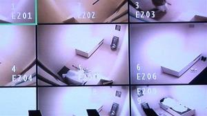 This April 16, 2013 video frame grab reviewed by the US military shows live streaming video of detainees' cells at Guantanamo Bay Naval Base, Cuba.