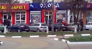 A frame grab from YouTube video following the attack.