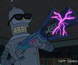 This image released by Futurama TM and Twentieth Century Fox Film Corp shows Bender in Futurama: Bender's Big Score!