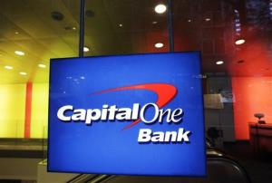In this Friday, May 11, 2012 file photo, a Capital One Bank office is shown in New York.