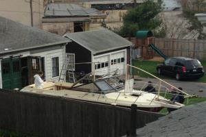 That's the boat in Watertown Dzhokhar Tsarnaev was hiding.