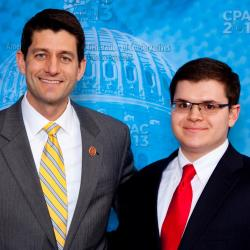 Adam Savader's Twitter profile picture with Paul Ryan