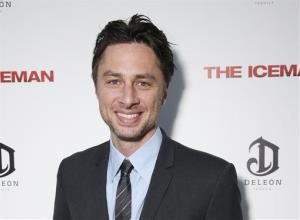 This April 22 photo provided by Millennium shows Zach Braff at a screening  of The Iceman at the Arclight in Los Angeles.