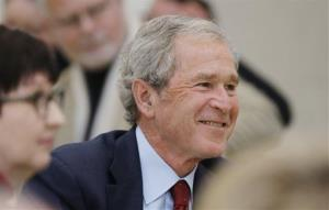 Former President George W. Bush in Dallas. His museum and library opens April 25 in Dallas.