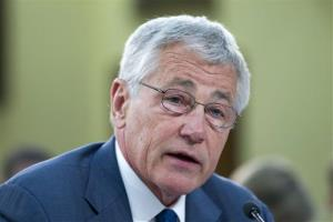 Defense Secretary Chuck Hagel testifies on Capitol Hill, in Washington, Tuesday, April 16, 2013.