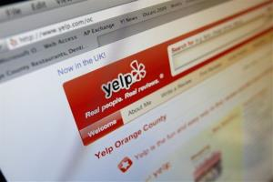 This image shows a Yelp web site on a computer screen in Los Angeles Thursday March 18, 2010.