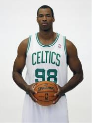 In a Friday, Sept. 28, 2012 file photo, Boston Celtics' Jason Collins poses during Celtics NBA basketball media day at the team's training facility in Waltham, Mass.