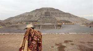 The Pyramid of the Sun in Teotihuacan, Mexico.