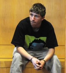Cameron D'Ambrosio is arraigned in Lawrence District Court in Lawrence, Mass., Thursday.