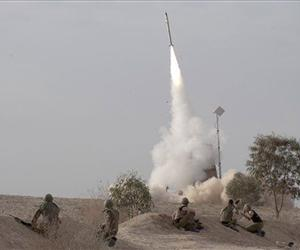 In this 2012 file photo, an Israeli Iron Dome missile launches. Israel's military deployed Iron Dome defense system on Sunday, May 5, 2013 following Israeli airstrikes in Syria.