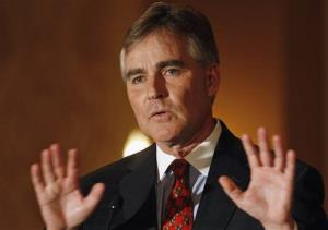 In this Nov. 9, 2009 file photo, Illinois Republican Chairman Pat Brady speaks at a news conference in Chicago.