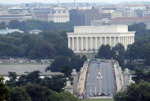 The marchers won't be allowed to cross the Memorial Bridge with loaded firearms, police say.