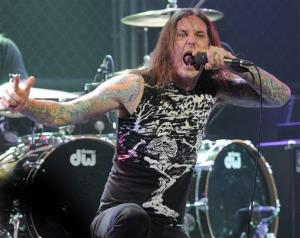 Tim Lambesis of As I Lay Dying performs at the second annual Revolver Golden Gods Awards in Los Angeles.