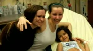 Amanda Berry, center, is shown with her sister and her daughter Jocelyn.