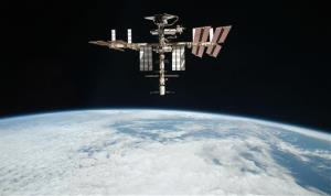 This May 23, 2011 file photo released by NASA shows the International Space Station at an altitude of approximately 220 miles above the Earth.
