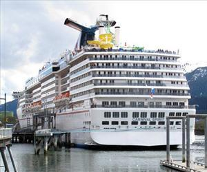 The Carnival Spirit is seen in Alaska in this file photo.