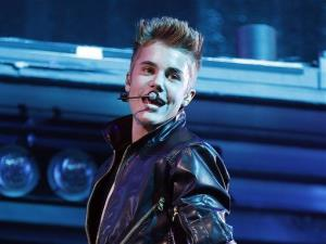Justin Bieber performs at the MGM Grand Garden Arena in Las Vegas.