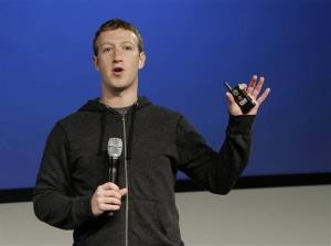 Facebook CEO Mark Zuckerberg speaks at Facebook headquarters in Menlo Park, Calif., in this file photo.