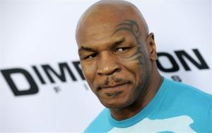 Mike Tyson, a cast member in Scary Movie V, at the Los Angeles premiere of the film in Los Angeles.