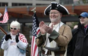 A 2011 file photo of a Tea Party rally on tax day in Bellevue, Wash.
