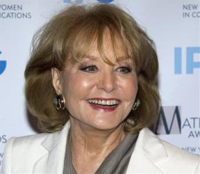 Veteran ABC newswoman Barbara Walters arrives at the Matrix Awards in New York.