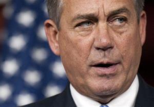 House Speaker John Boehner of Ohio, meets with the news media at the US Capitol,  in Washington, Thursday, May 9, 2013.