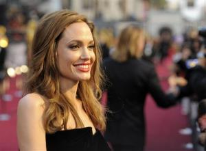 This Feb. 26, 2012 file photo shows actress Angelina Jolie at the 84th Academy Awards in the Hollywood section of Los Angeles.