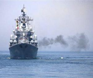 A Russian naval vessel is seen during military exercises in this file photo.