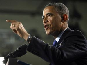 President Obama speaks at Manor New Technology High School in Texas on May 9.