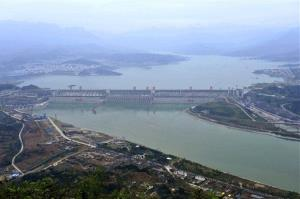 This Oct. 26, 2010 file photo released by China's Xinhua News Agency shows the reservoir of the Three Gorges Dam in Yichang, in central China's Hubei province.