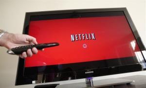 A Netflix subscriber turns on Netflix.