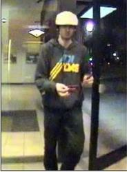 This image taken from surveillance video shows Boston Marathon bombing suspect Dzhokhar Tsarnaev at a Bank of America ATM in Watertown, Mass. the day before he was apprehended.
