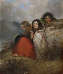 An 1847 painting by Daniel MacDonald, titled Irish Peasant Children.