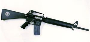 An AR-15 rifle is shown.