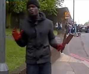 One of the suspected attackers is seen in this video from the scene.