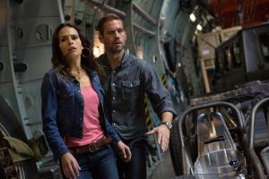 Jordana Brewster, left, and Paul Walker in a scene from Fast & Furious 6.