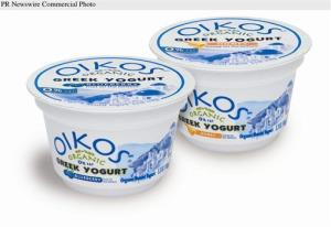 Greek yogurt Oikos Organic.