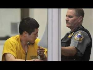 Jerry Active, left, is seen at a court appearance on Sunday.