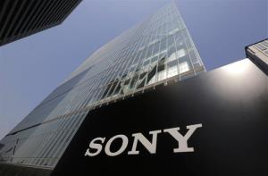Sony's logo is seen outside the company's headquarters in Tokyo, Wednesday, May 22, 2013.